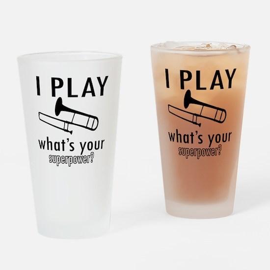 Cool Trombone Designs Drinking Glass