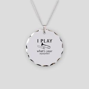 Cool Trombone Designs Necklace Circle Charm
