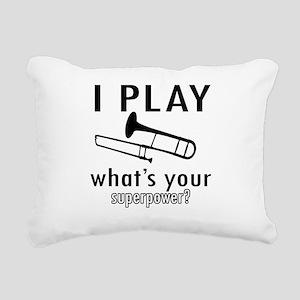 Cool Trombone Designs Rectangular Canvas Pillow