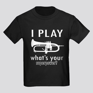 Cool Trumpet Designs Kids Dark T-Shirt