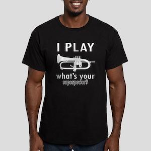 Cool Trumpet Designs Men's Fitted T-Shirt (dark)