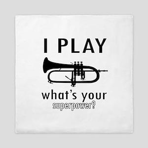 Cool Trumpet Designs Queen Duvet