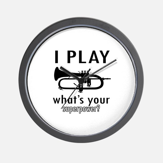 Cool Trumpet Designs Wall Clock