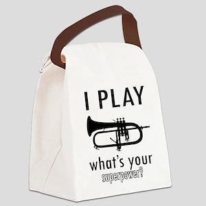 Cool Trumpet Designs Canvas Lunch Bag
