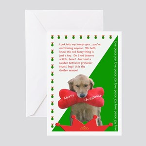 Christmas Golden Retriever Cards (Pk of 10)