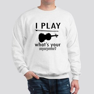 Cool Violin Designs Sweatshirt