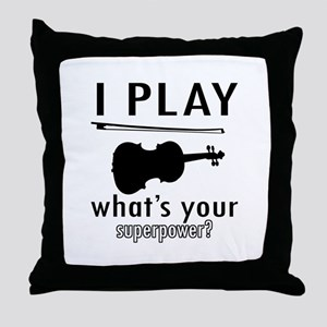 Cool Violin Designs Throw Pillow