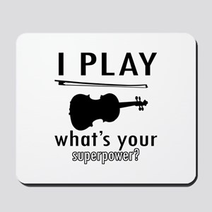 Cool Violin Designs Mousepad