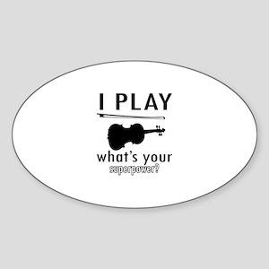 Cool Violin Designs Sticker (Oval)