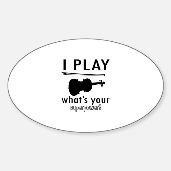 Cool Violin Designs Sticker (Oval)