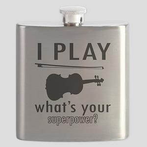 Cool Violin Designs Flask