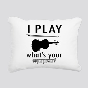 Cool Violin Designs Rectangular Canvas Pillow