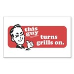 This Guy Turns Grills On Sticker (Rectangle 50 pk)