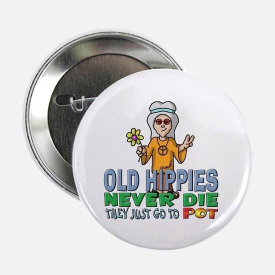 """Hippies 2.25"""" Button"""