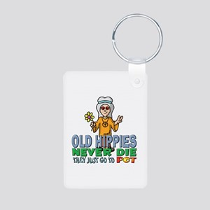 Hippies Aluminum Photo Keychain