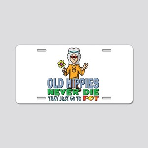 Hippies Aluminum License Plate