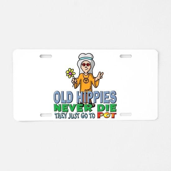 Hippies Aluminum License Plate