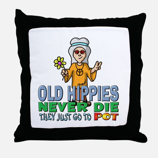 Hippies Throw Pillow