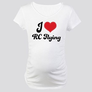 I Love RC Flying Maternity T-Shirt