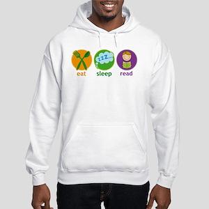Eat Sleep Read Hooded Sweatshirt