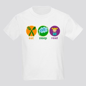 Cute Eat Sleep Read Kids Light T-Shirt