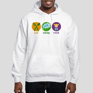 Cute Eat Sleep Read Hooded Sweatshirt