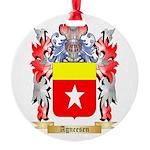 Agneesen Round Ornament
