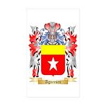 Agneesen Sticker (Rectangle 50 pk)