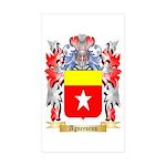 Agneesens Sticker (Rectangle 50 pk)