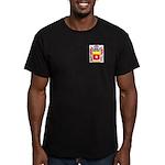 Agnesi Men's Fitted T-Shirt (dark)