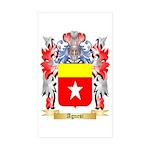 Agnesi Sticker (Rectangle 50 pk)