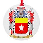 Agnesini Round Ornament