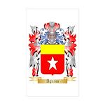 Agness Sticker (Rectangle 50 pk)