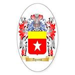 Agness Sticker (Oval 50 pk)