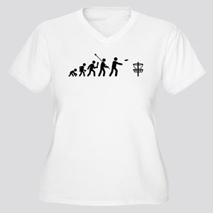 Disc Golf Women's Plus Size V-Neck T-Shirt
