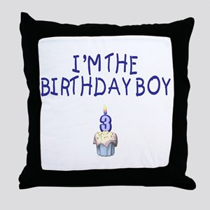 Birthday Boy 3 Throw Pillow