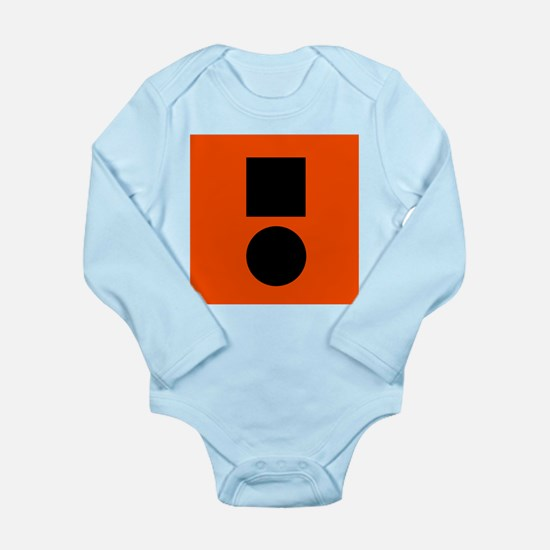 Universal Distress Flag Long Sleeve Infant Bodysui