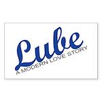 Lube Musical Words Sticker (Rectangle 50 pk)