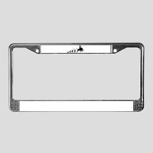 Bull Riding License Plate Frame