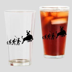 Bull Riding Drinking Glass