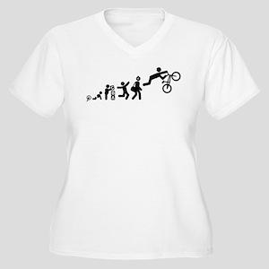BMX Women's Plus Size V-Neck T-Shirt