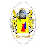 Agnolozzi Sticker (Oval 50 pk)