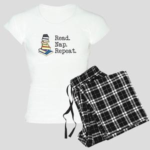 Read. Nap. Repeat. Women's Light Pajamas