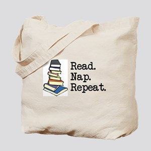 Read. Nap. Repeat. Tote Bag