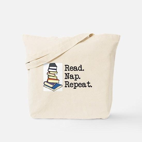 Read. Nap. Repeat. Tote Bag