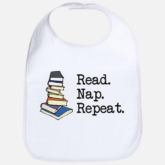 Read. Nap. Repeat. Bib