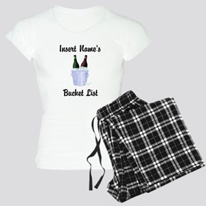 Insert Name Personalized Wine Bucket List Women's