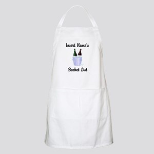 Insert Name Personalized Wine Bucket List Apron