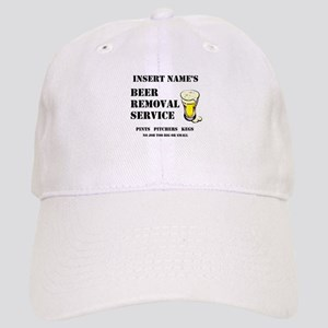 Insert Name Personalize Beer Removal Service Cap