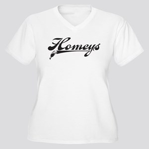 For My Homeys Women's Plus Size V-Neck T-Shirt